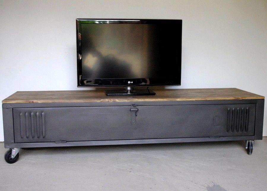 Meuble tv gris roulettes