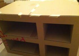 Tuto meuble tv carton