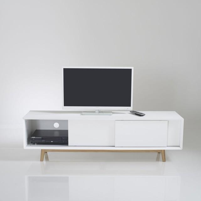Meuble tv 3 portes blanc