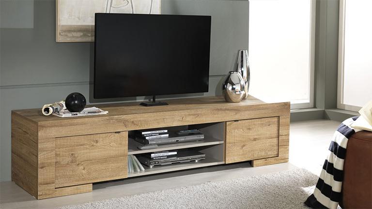 Meuble tv bois massif contemporain