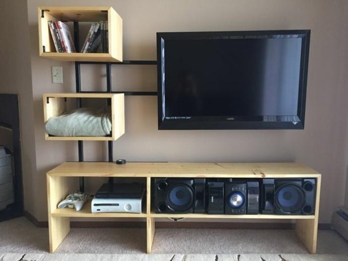 Faire un meuble tv mural