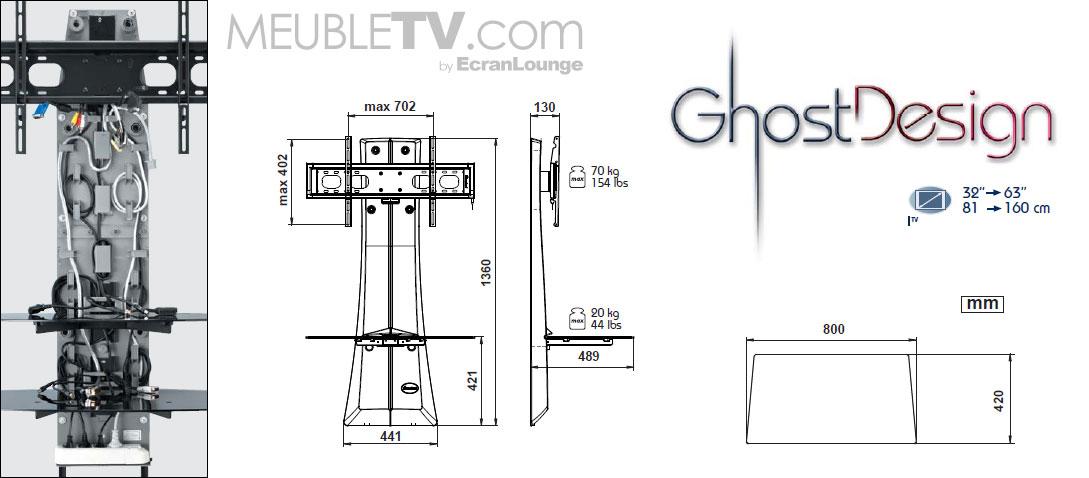 Meuble tv meliconi ghost design 1000