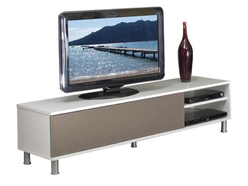 Meuble tv bois blanc conforama
