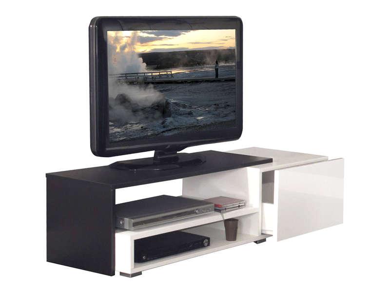Meuble tv tiroir noir