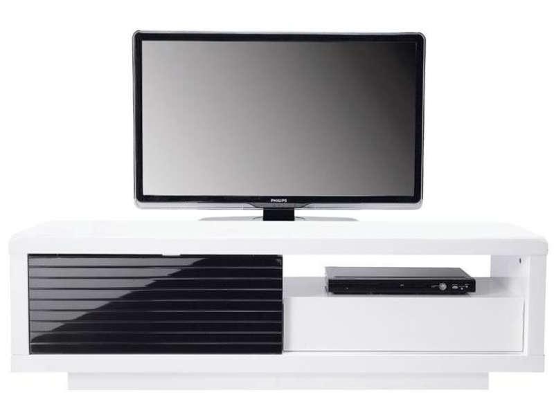 Meuble tv gris laqué conforama