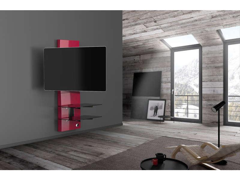 Meuble tv meliconi gost design 3000 rouge