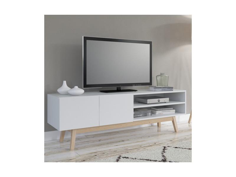Meuble tv electra blanc conforama