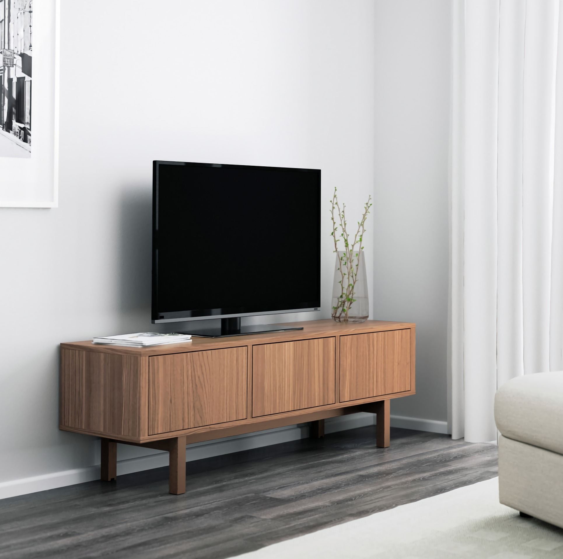 Meuble tv vernis