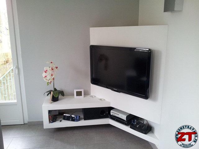 Meuble de tv en placo