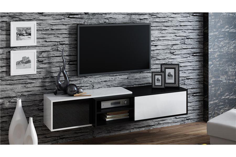 Hauteur meuble suspendu tv