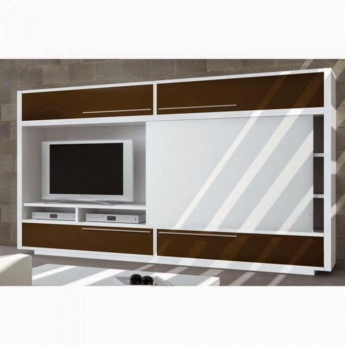 Meuble tv bois porte
