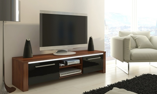 Meuble tv led bois