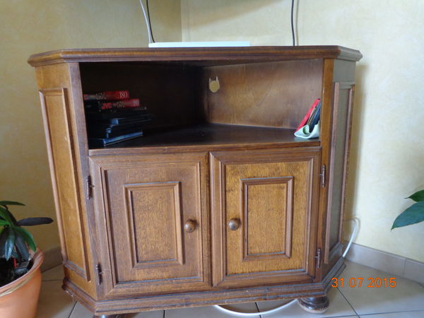 Meuble tv angle rustique