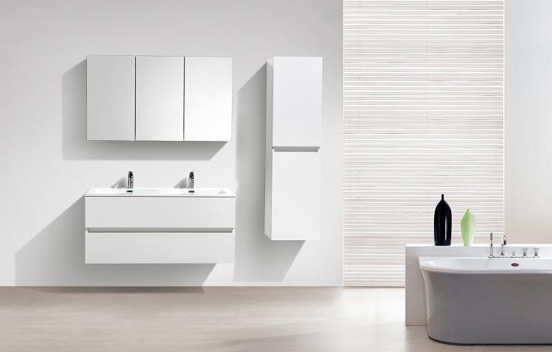 Meuble de salle de bain design double vasque