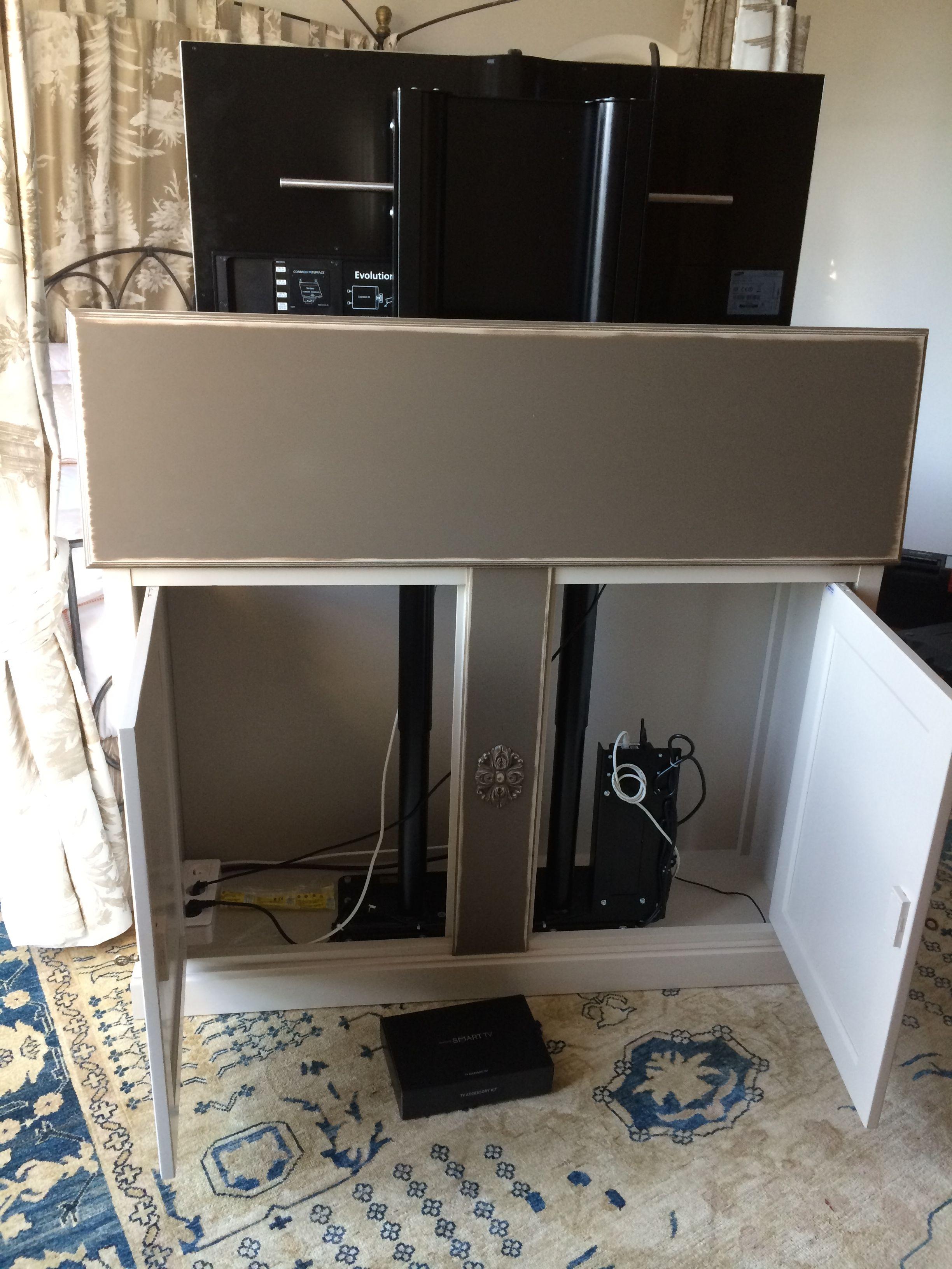 Tv lift meuble lit