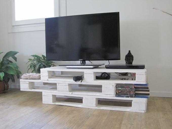 Meuble tv en palette pas cher