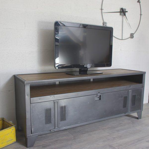 Meuble tv facon atelier
