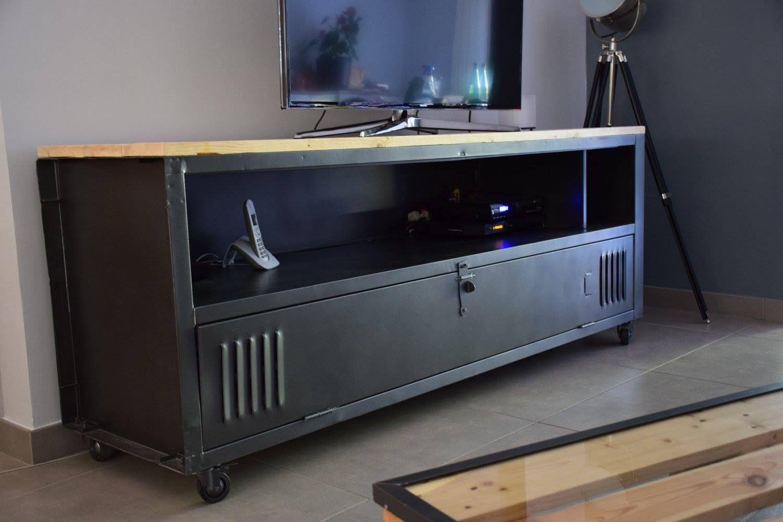 Alittlemarket meuble tv industriel