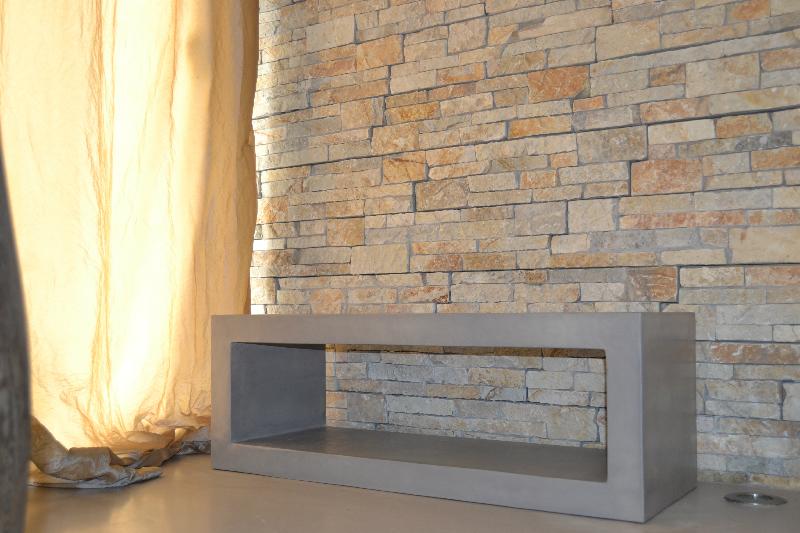 Meuble design beton cire