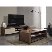 Ensemble meuble tv et table basse industriel