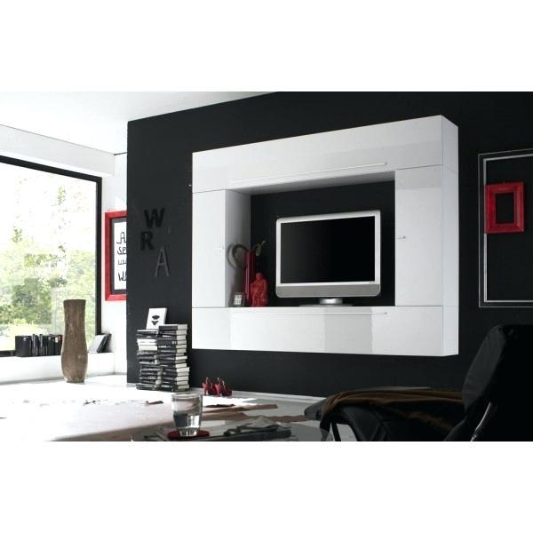 Meuble tv design mural peker noir et blanc