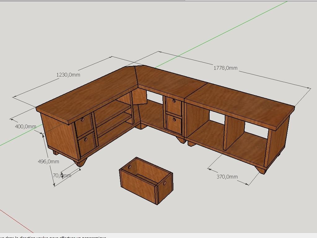 Plan meuble tv d angle