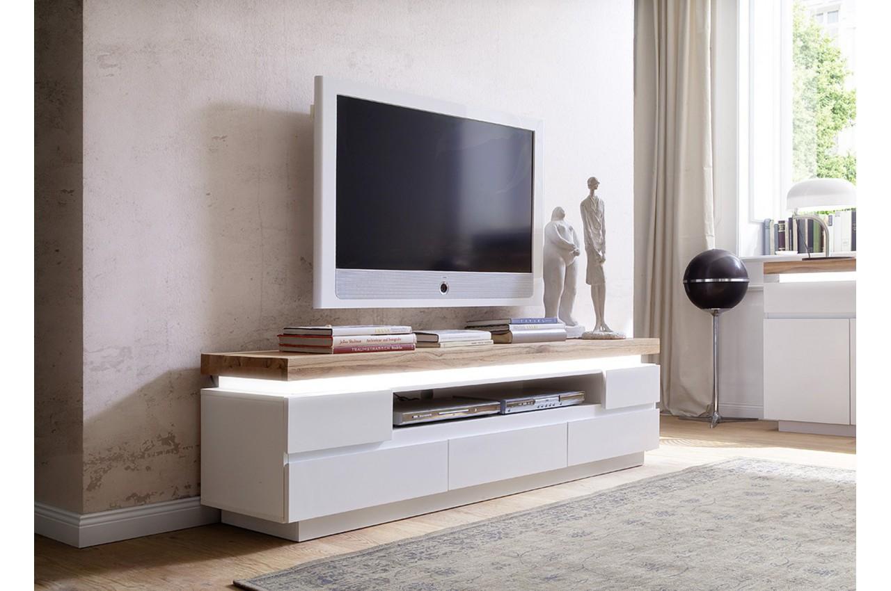 Meuble tele design blanc mat