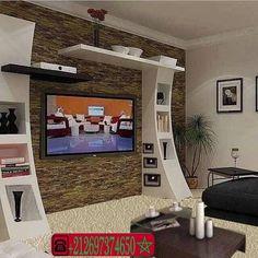 Meuble tv en carreaux de platre