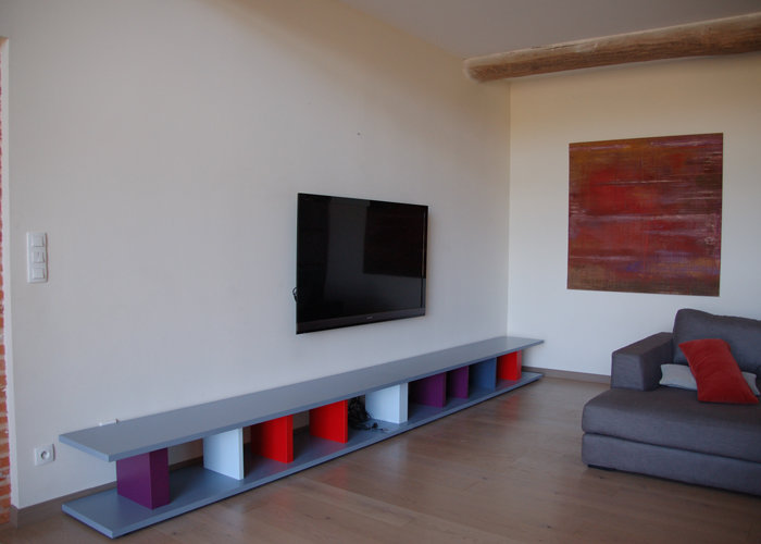 Creation meuble tv sur mesure
