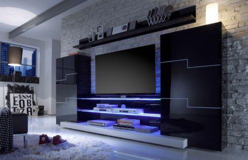 Meuble tv twin led