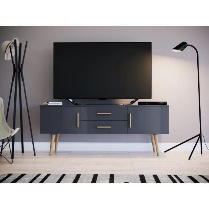 Meuble tv gris scandinave
