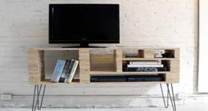 Meuble tv avec caisse en bois