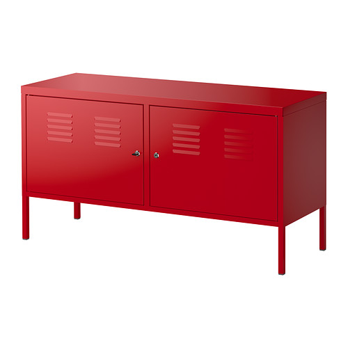 Meuble tv metallique rouge