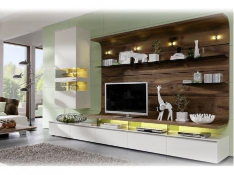 Meuble tv blanc pierre