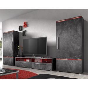 Meuble tv effet beton ciré