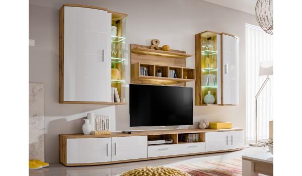 Meuble tv blanc bois moderne