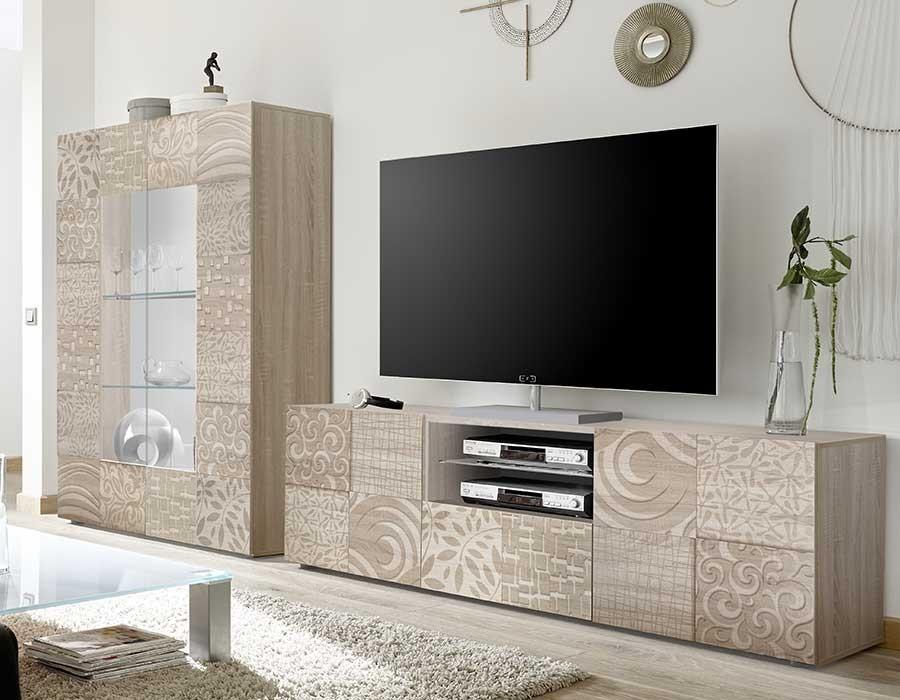 Meuble tv 100cm gris