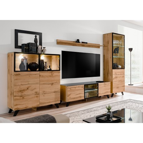 Ensemble meuble tv scandinave