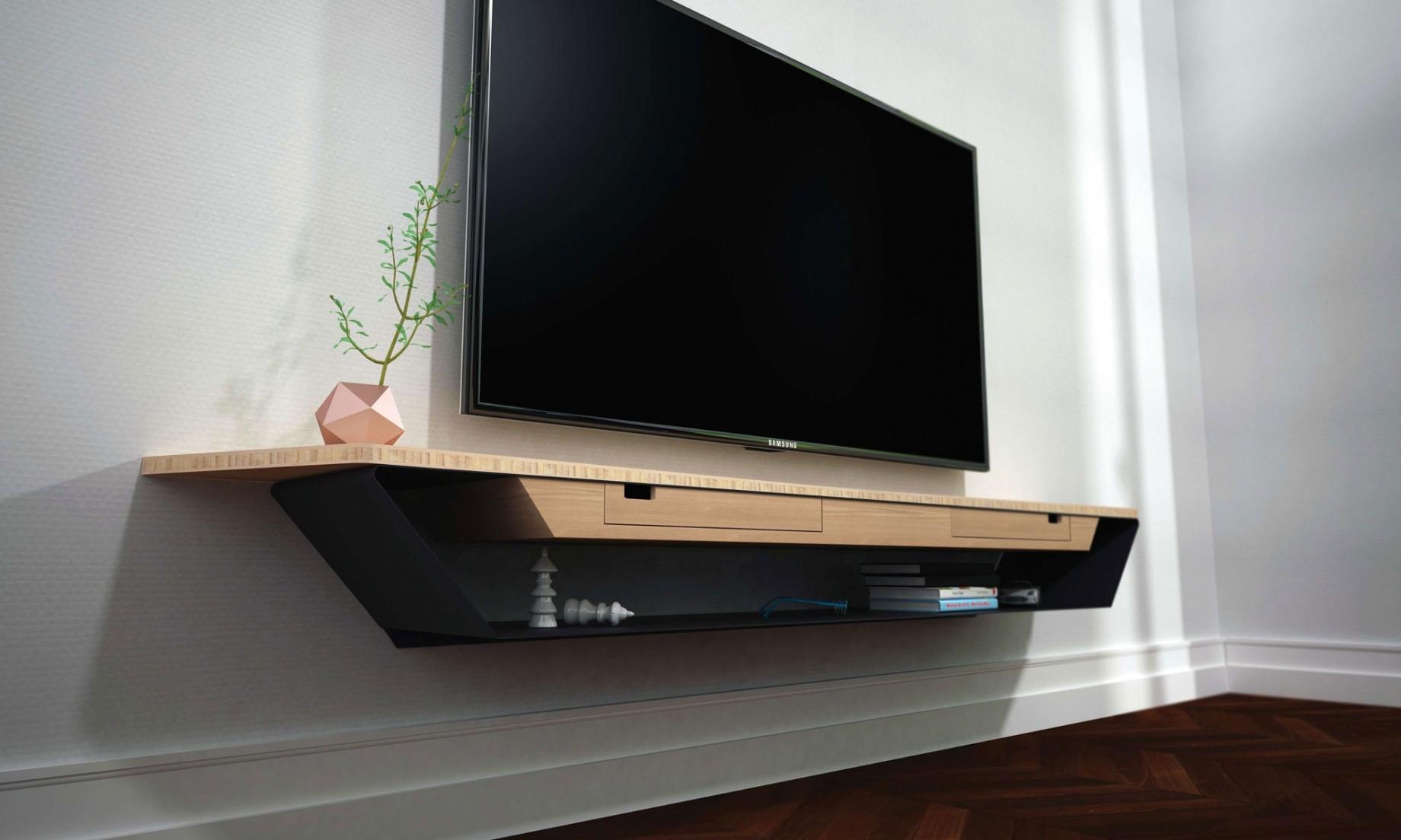 Fixation pour meuble tv suspendu