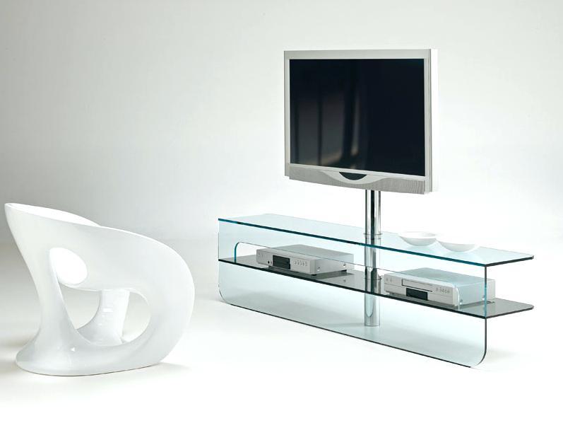 Meuble tv baroque en verre trempé bora