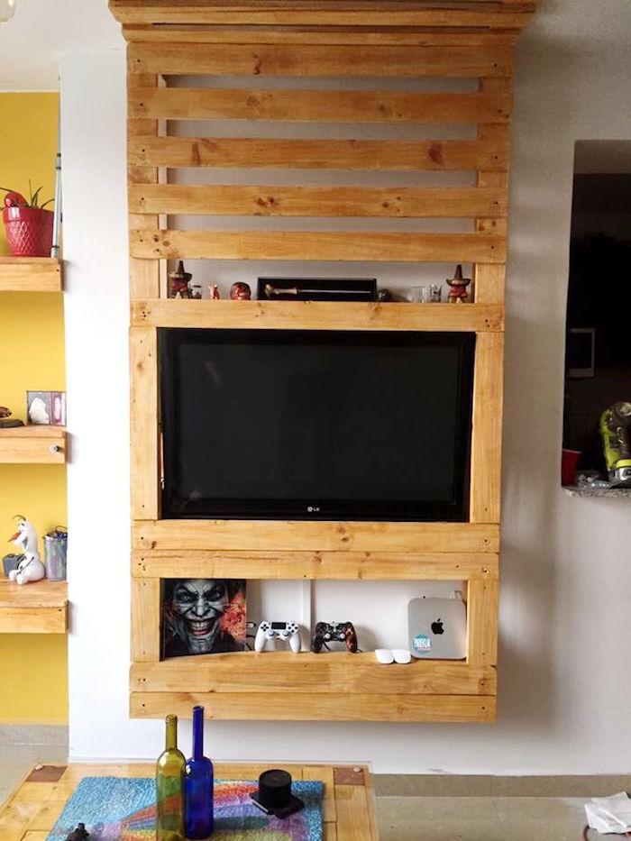 Meuble tv bois massif 200 cm