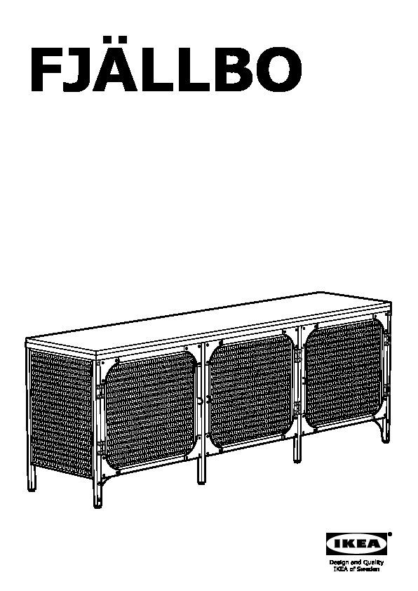Ikea fjallbo meuble tv