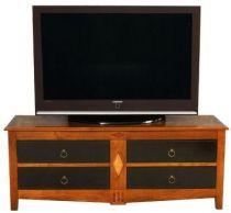 Meuble tv moderne en merisier