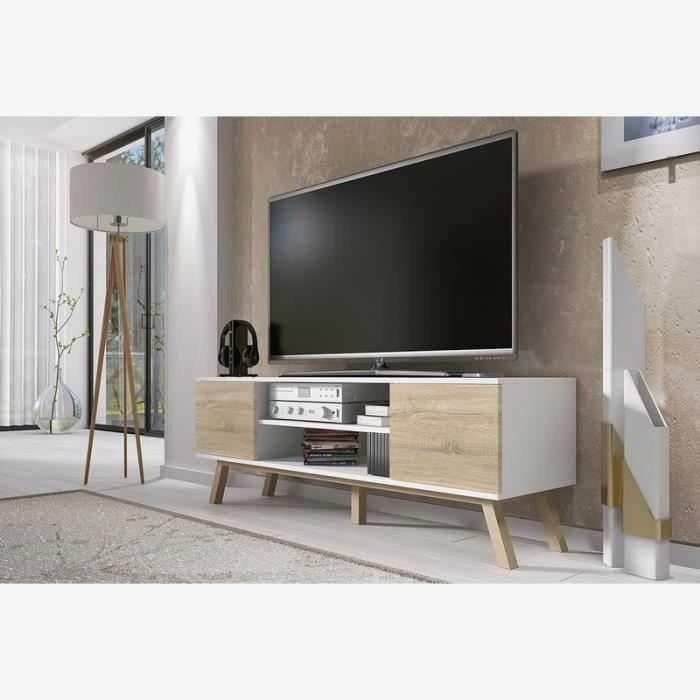 Meuble tv bois hauteur 80 cm