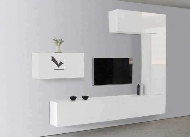Meuble tv design mural suspendu
