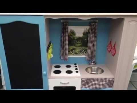 Meuble tv transformer en cuisine enfant