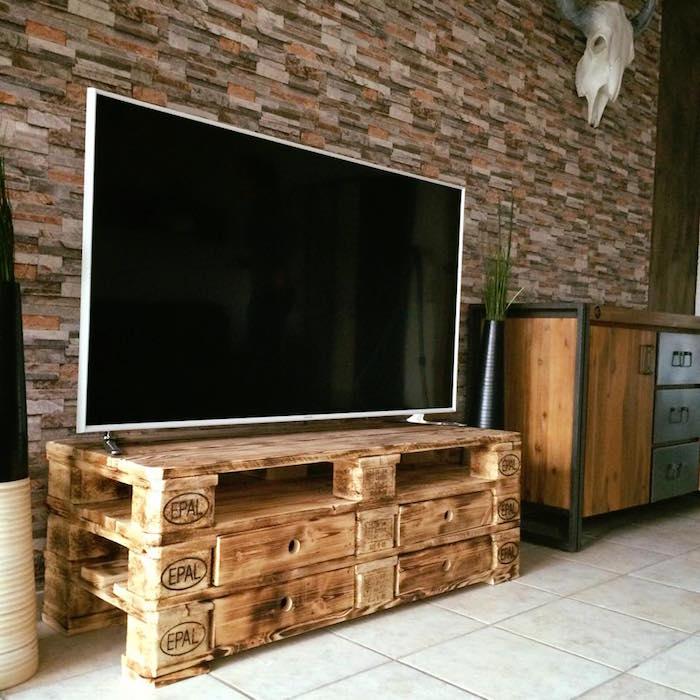 Fabriquer meuble tv palette