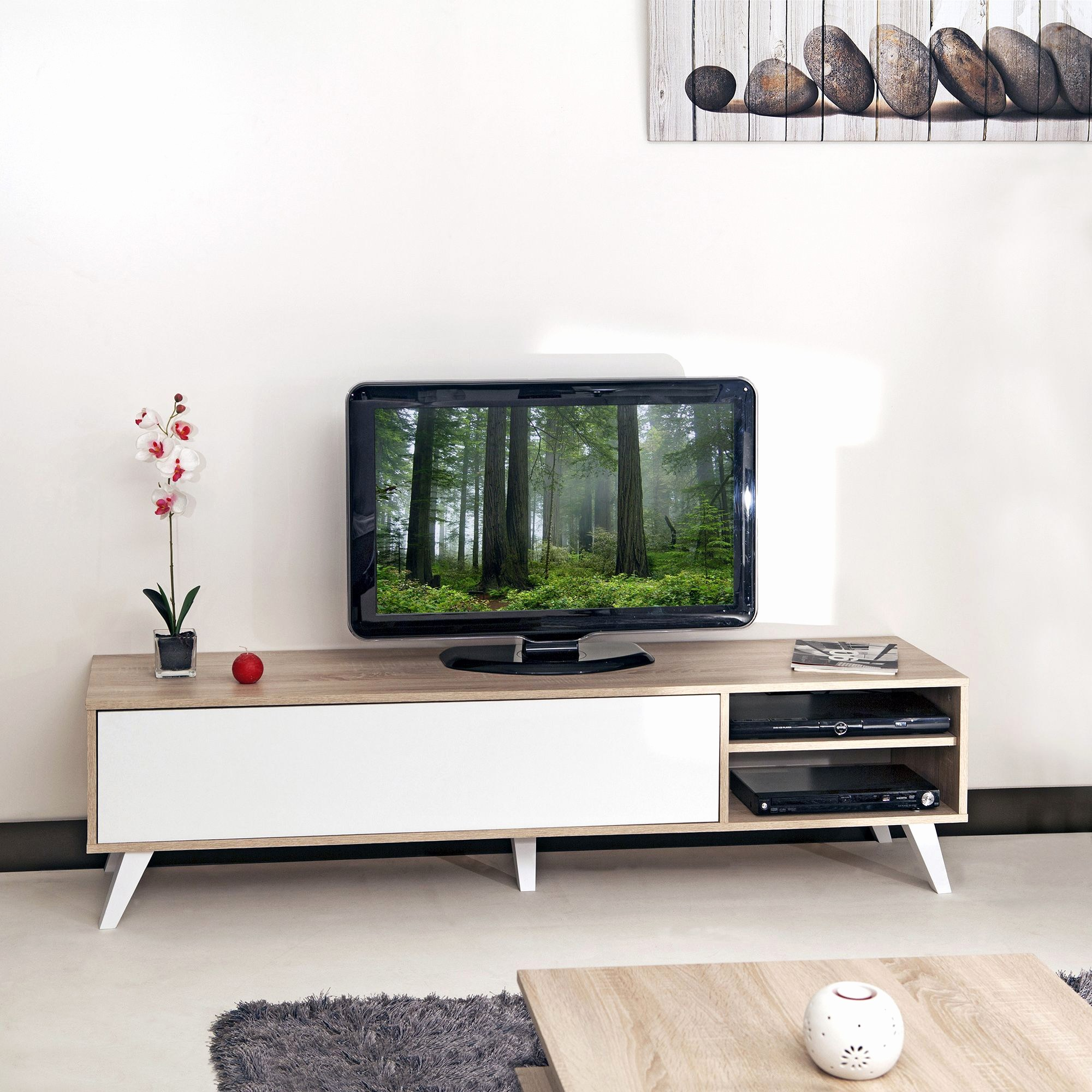Meuble tv moving cocktail scandinave