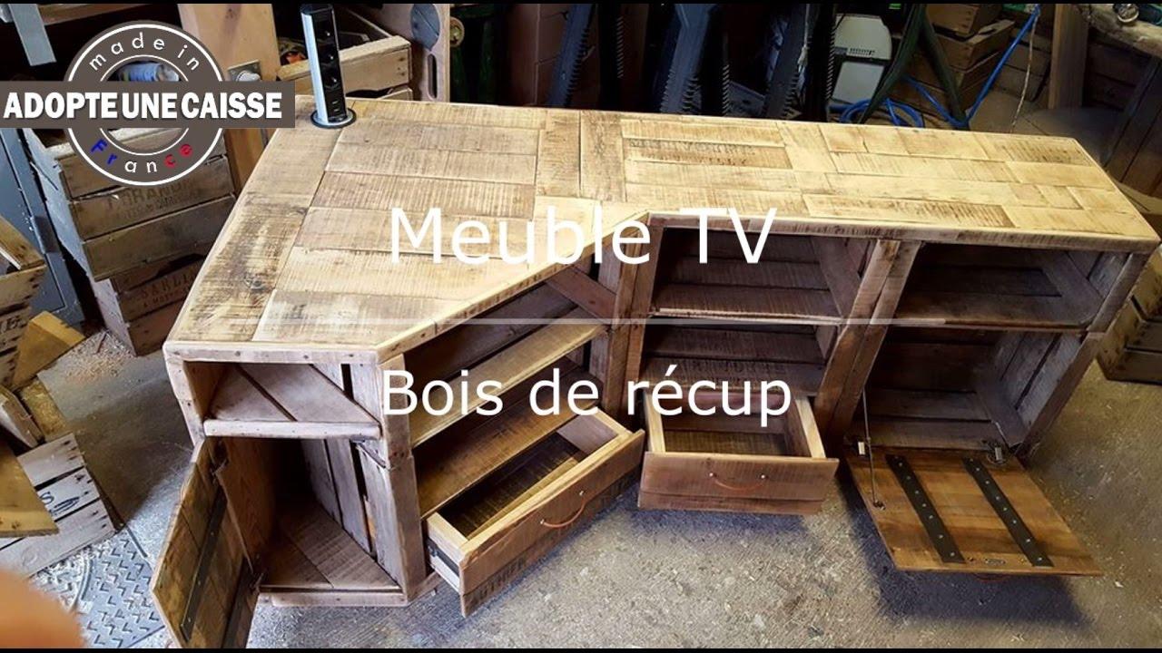 Fabriquer meuble tv avec plan de travail