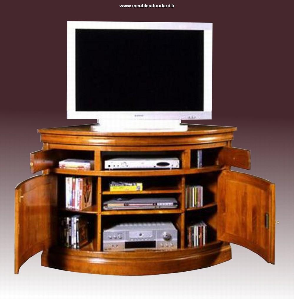 Meuble tv en coin bois
